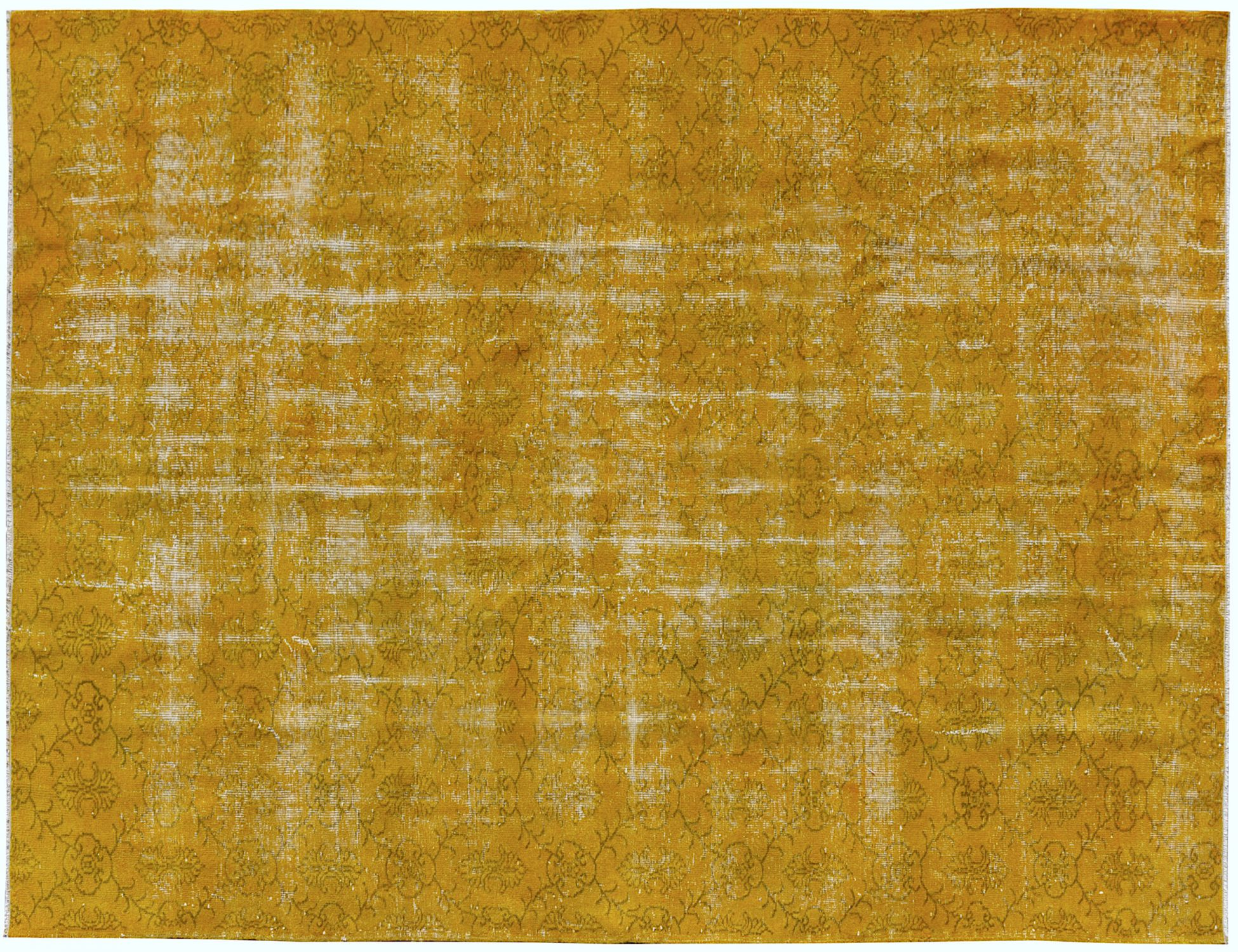 Overdyed Carpet  yellow <br/>301 x 194 cm