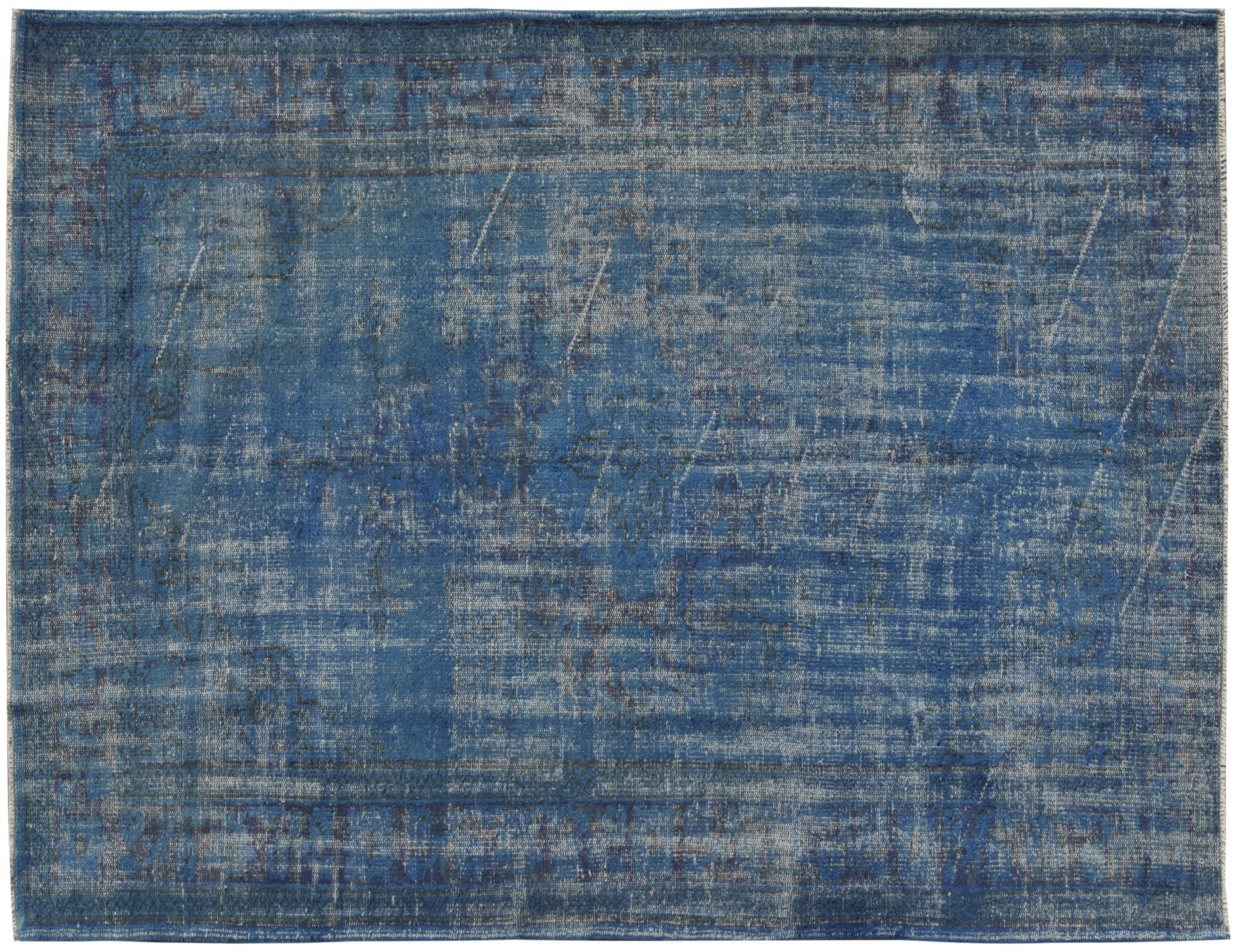 Overdyed Carpet  blue <br/>297 x 185 cm
