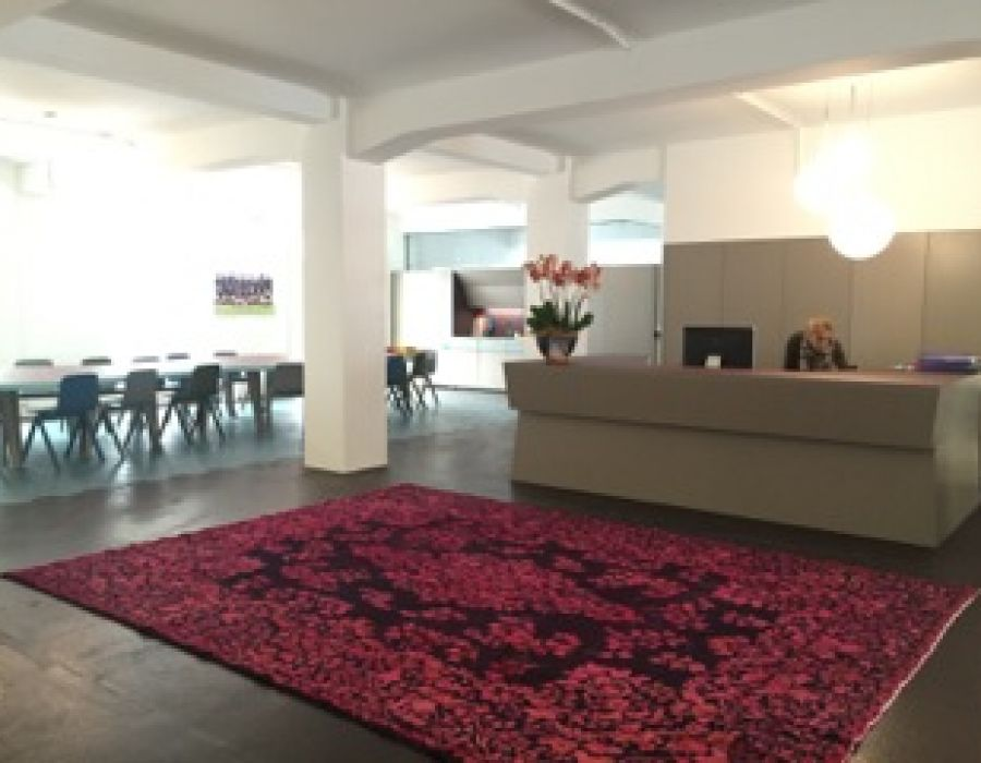 Our Overdyed Carpets Finish This Swedish Office Scheme