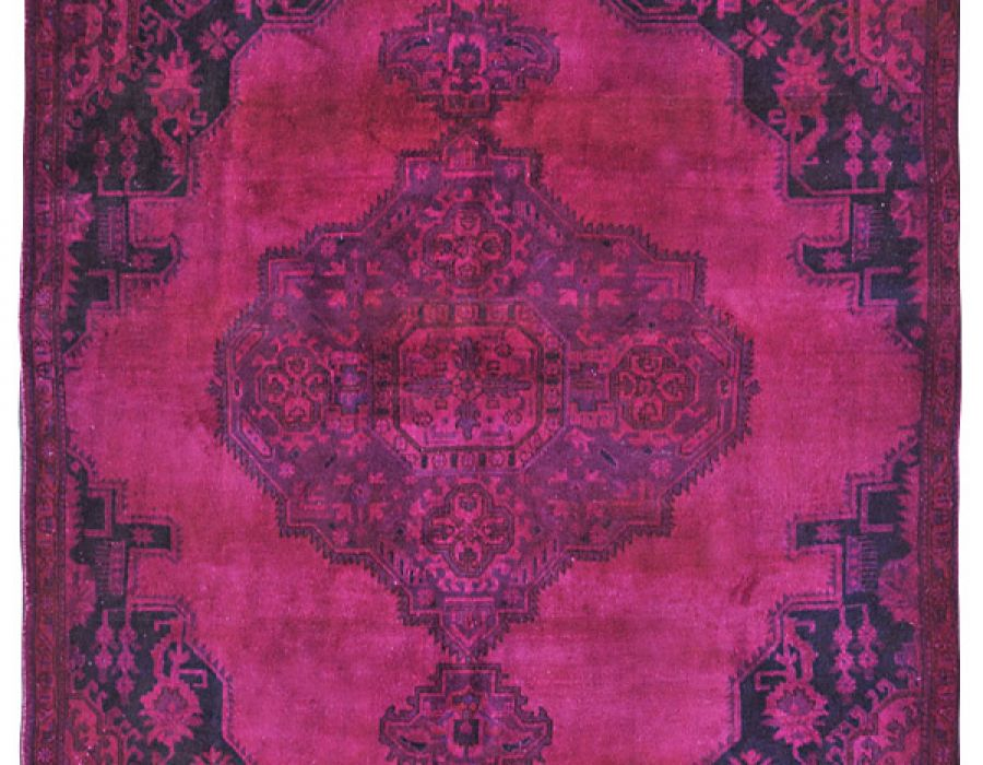 Overdyed Vintage Persian Carpets for Boutique Hotels