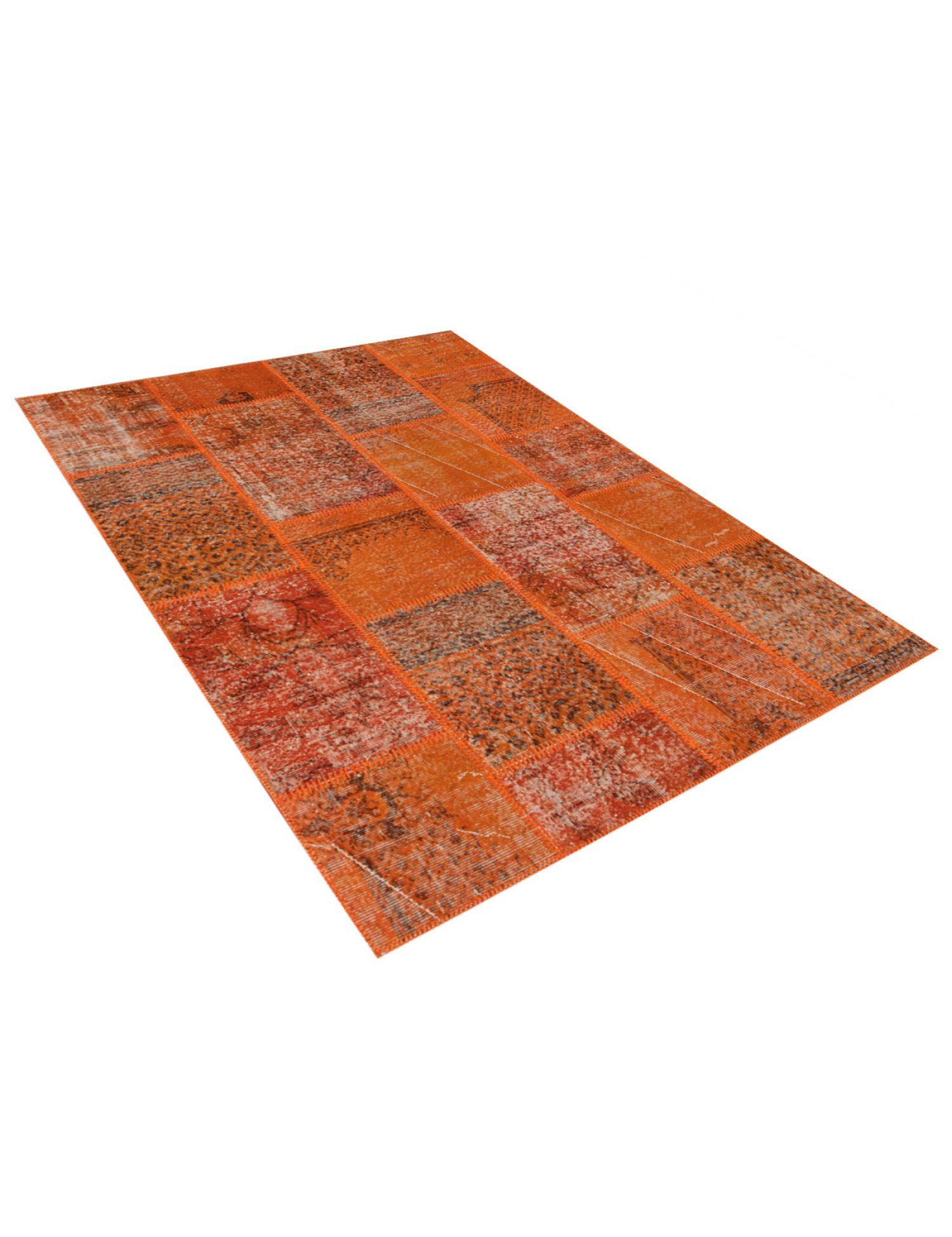 Patchwork Teppich  orange <br/>200 x 150 cm