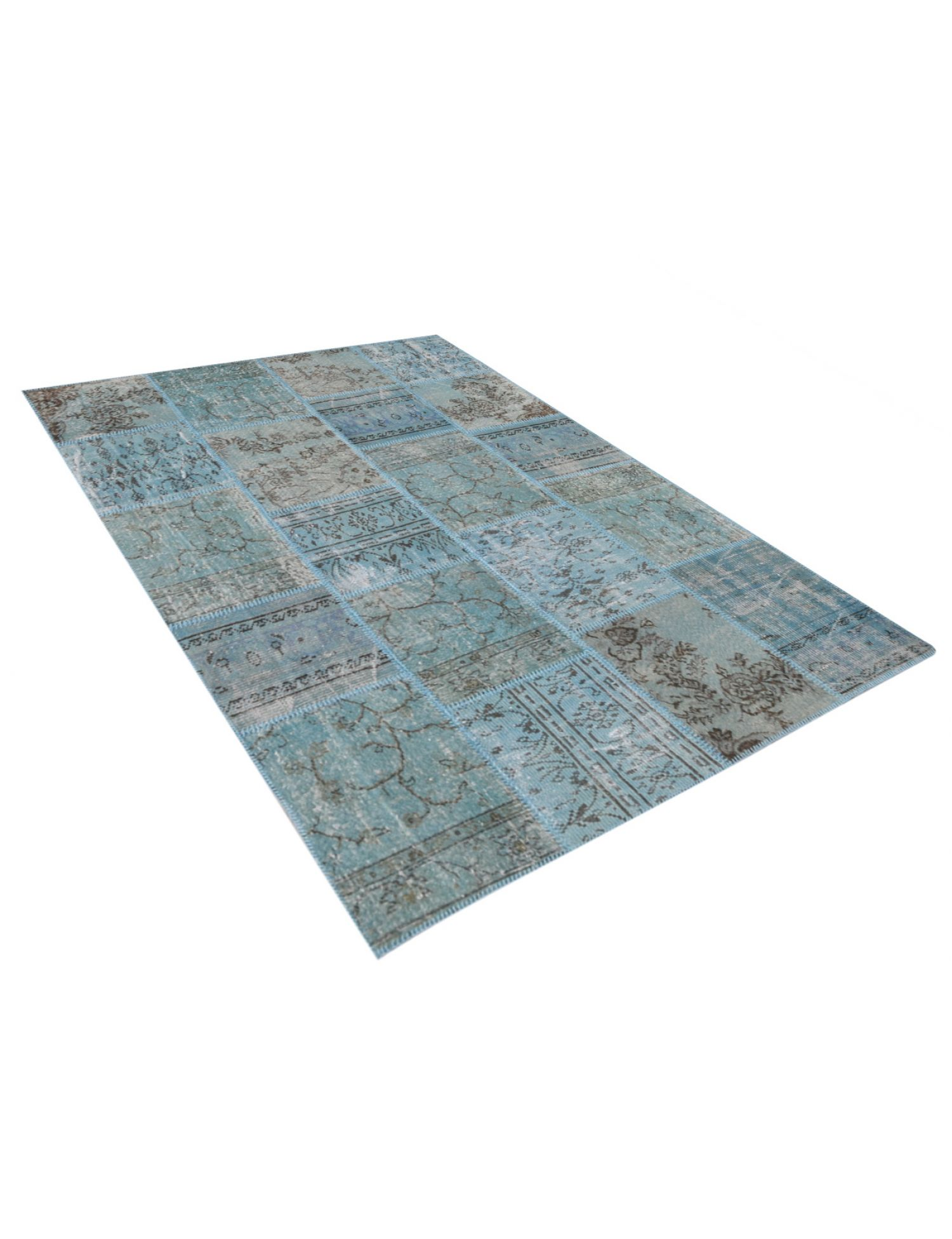 Patchwork Carpet   blue <br/>240 x 170 cm