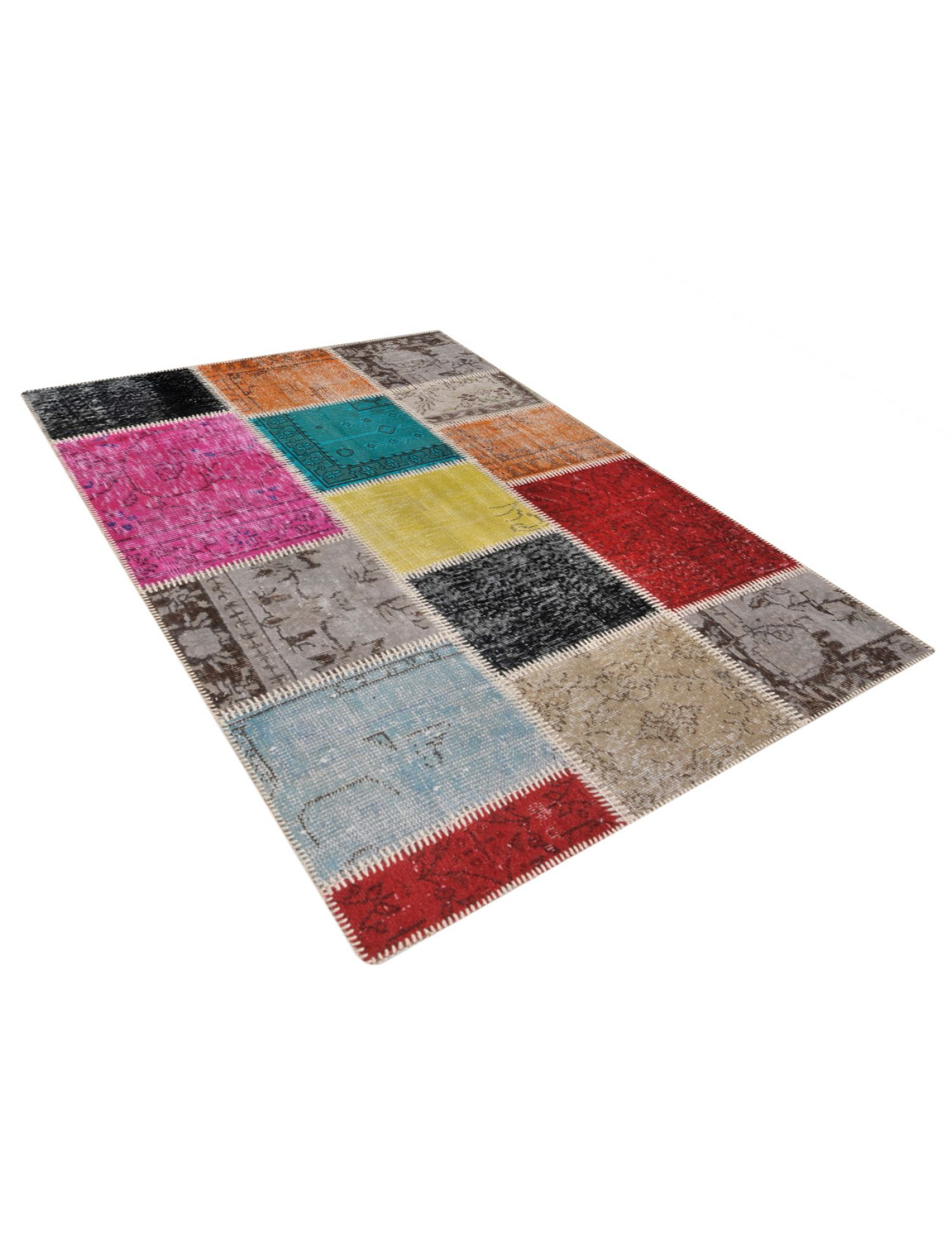 Patchwork Carpet  multicolor <br/>180 x 120 cm