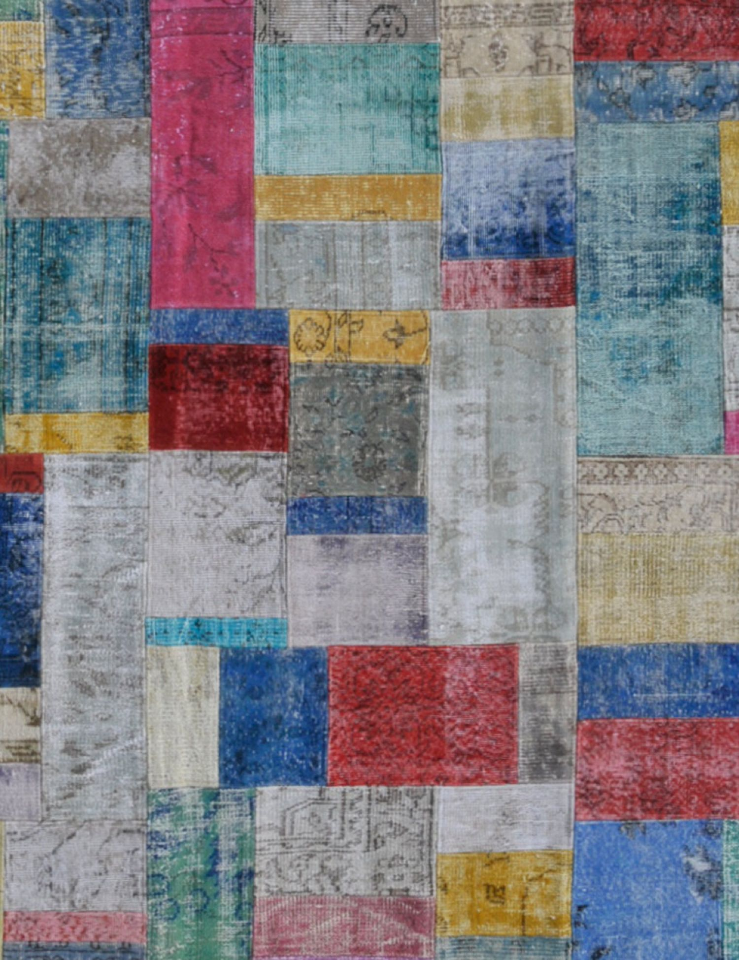 Patchwork Carpet   multicolor <br/>302 x 203 cm