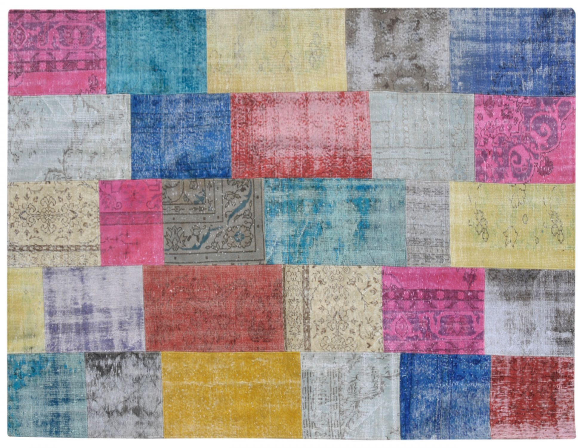 Patchwork Carpet   multicolor <br/>300 x 203 cm