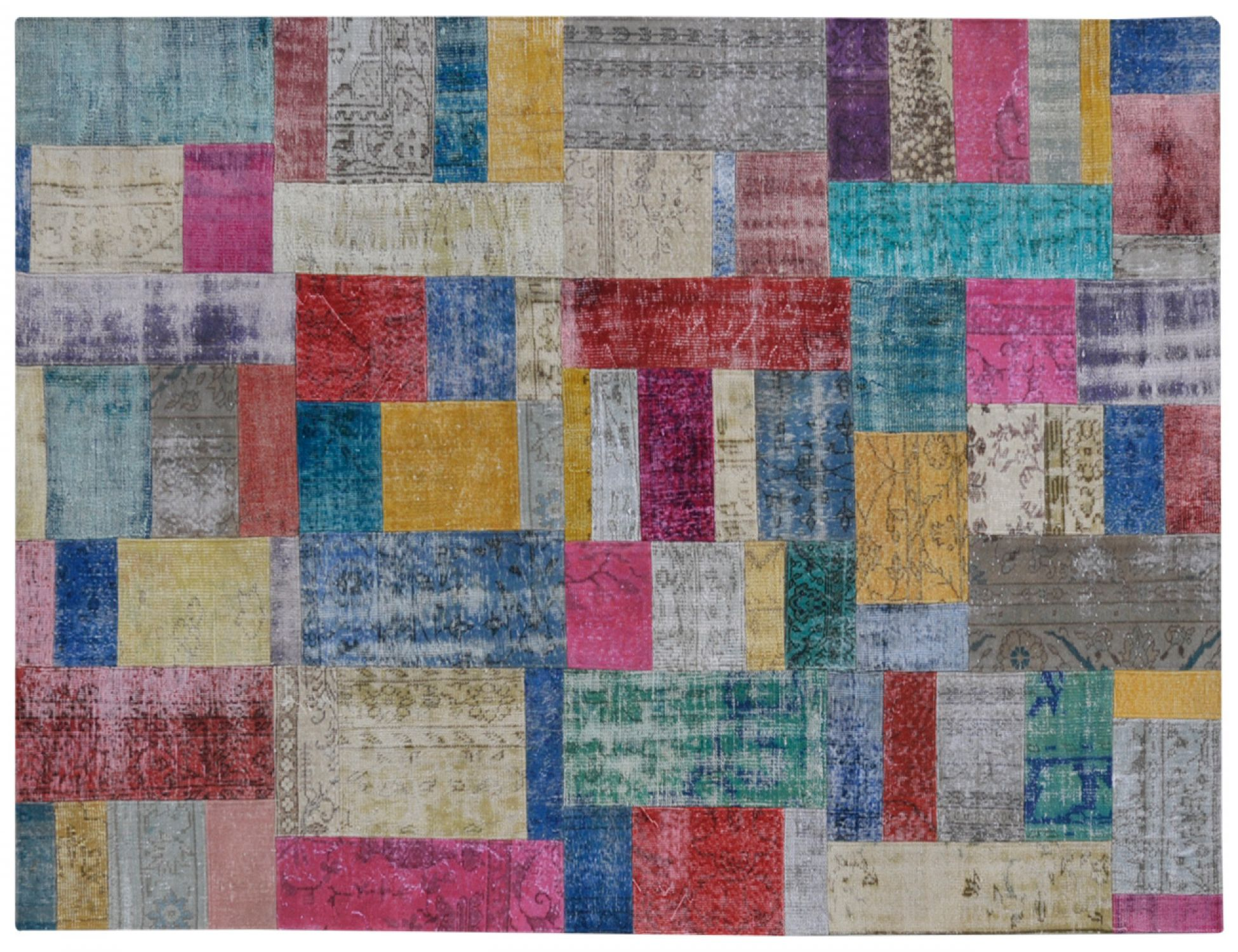 Patchwork Matto  monivärinen <br/>301 x 203 cm