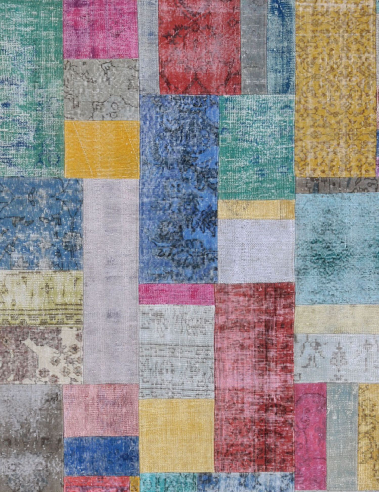 Patchwork Carpet   multicolor <br/>240 x 173 cm
