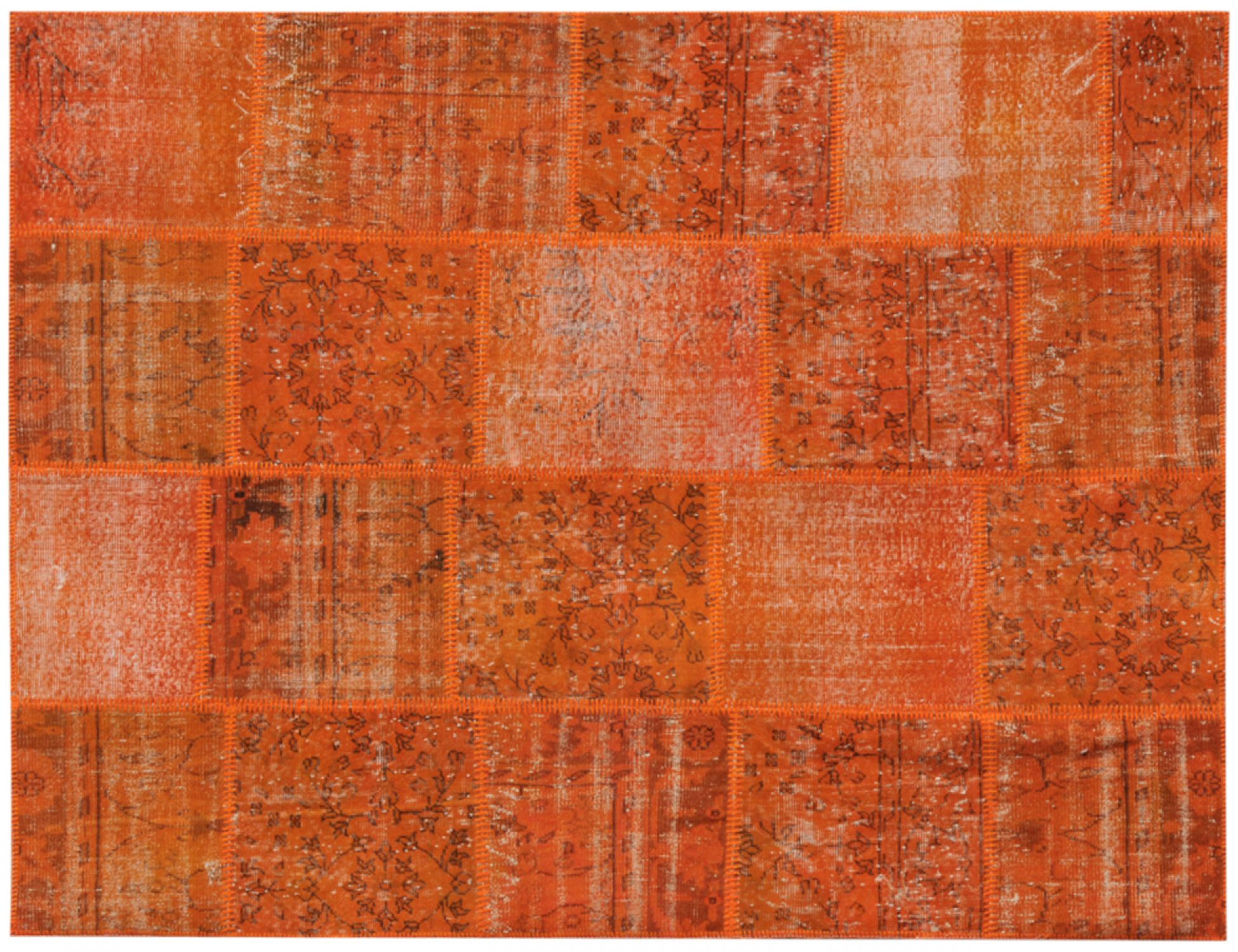 Patchwork Teppich  orange <br/>240 x 170 cm