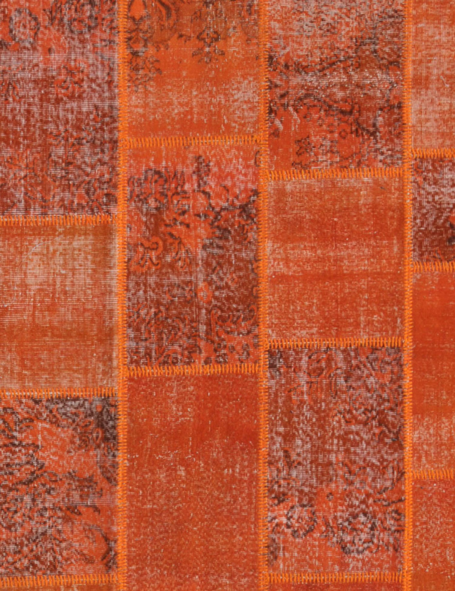 Patchwork Teppich  orange <br/>300 x 200 cm