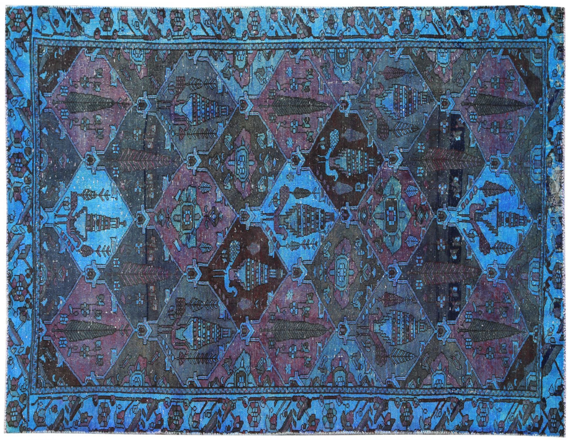 Vintage Carpet  blue <br/>295 x 150 cm