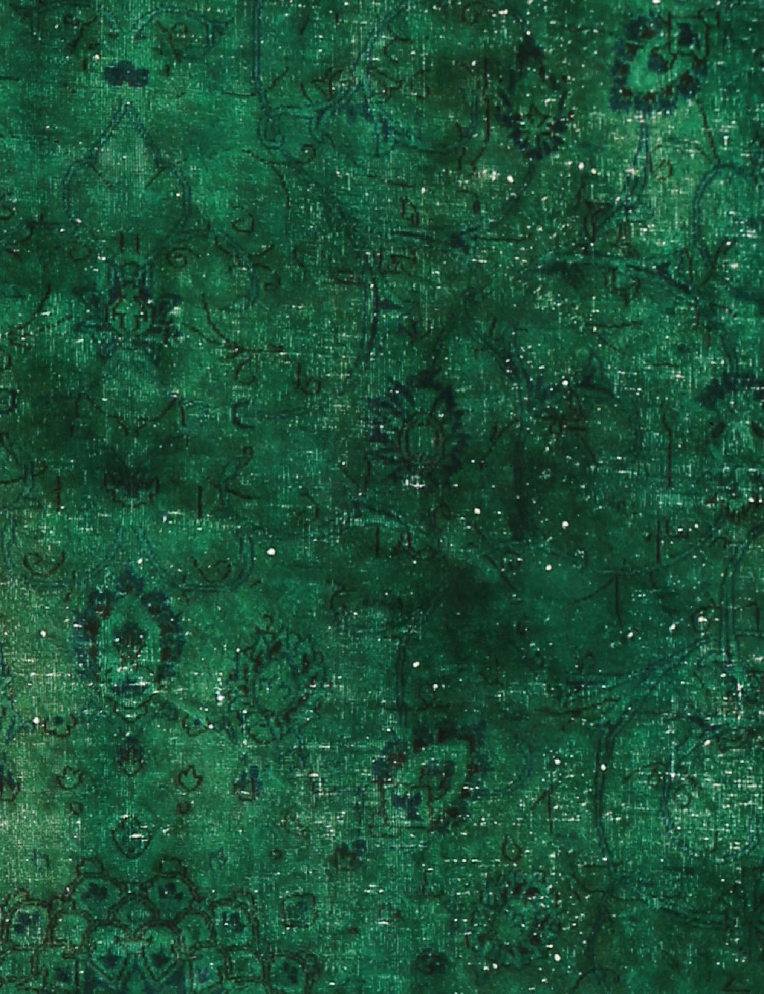 Vintage Teppich rund  grün <br/>270 x 270 cm