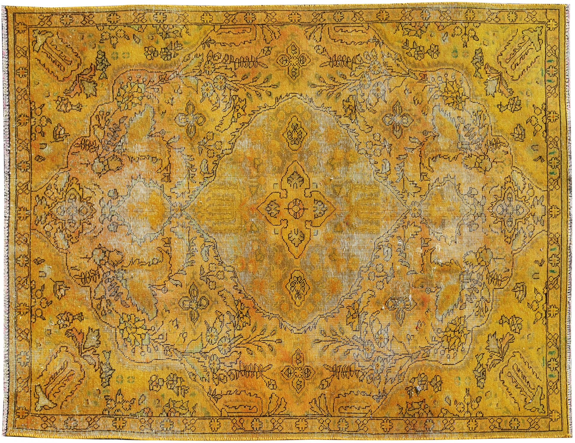 Vintage Carpet  yellow <br/>238 x 153 cm