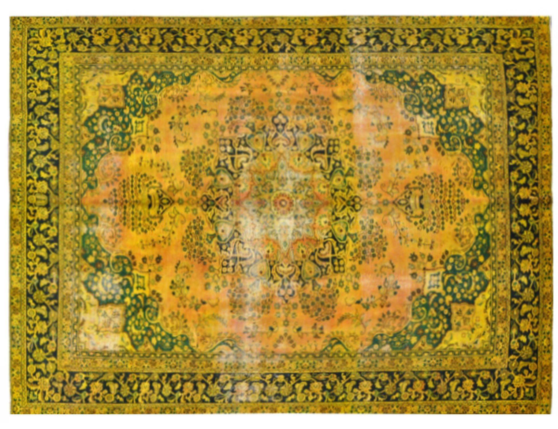 Vintage Carpet  yellow <br/>383 x 288 cm