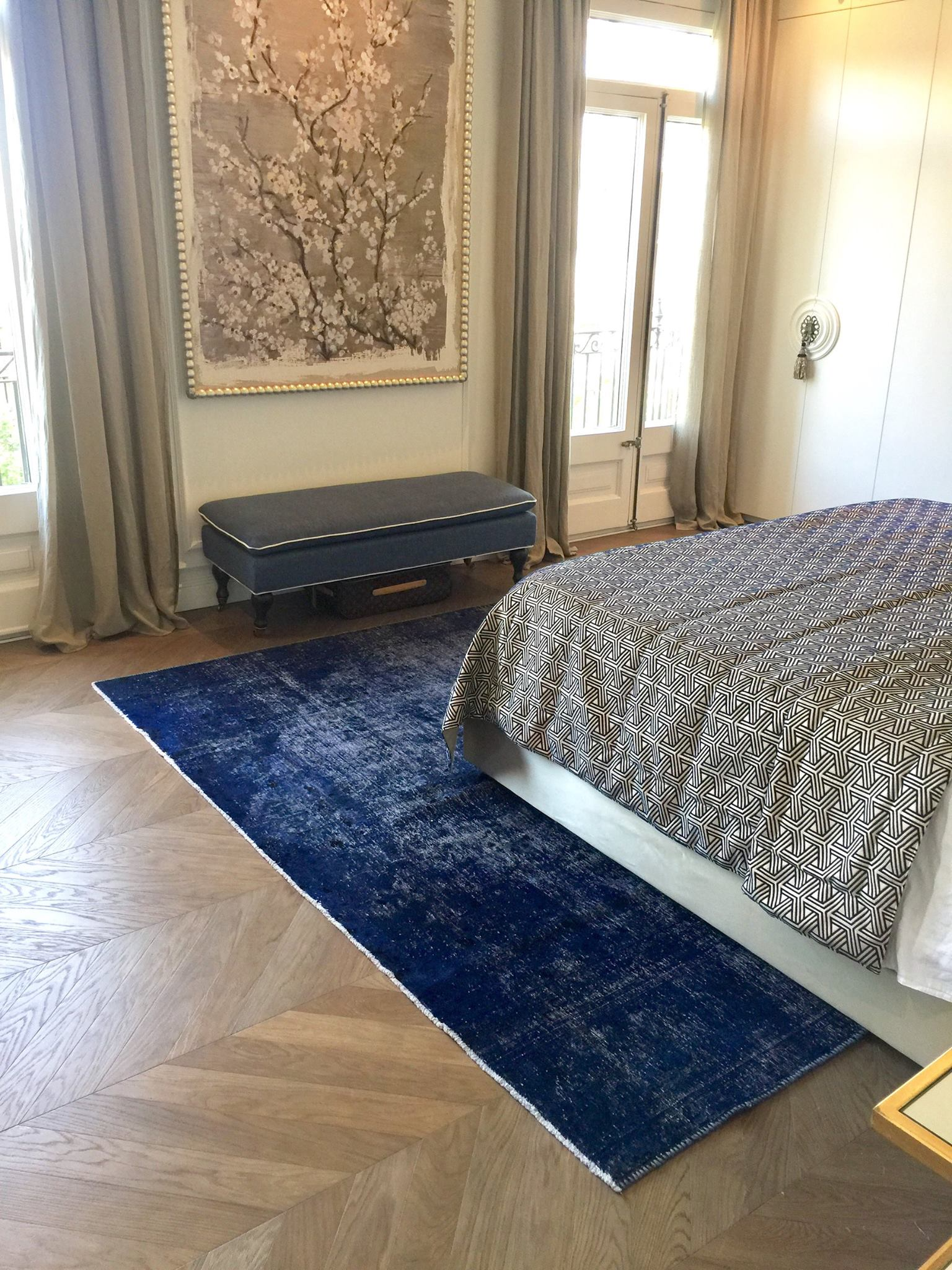 A Persian Vintage Rug Under A Bed
